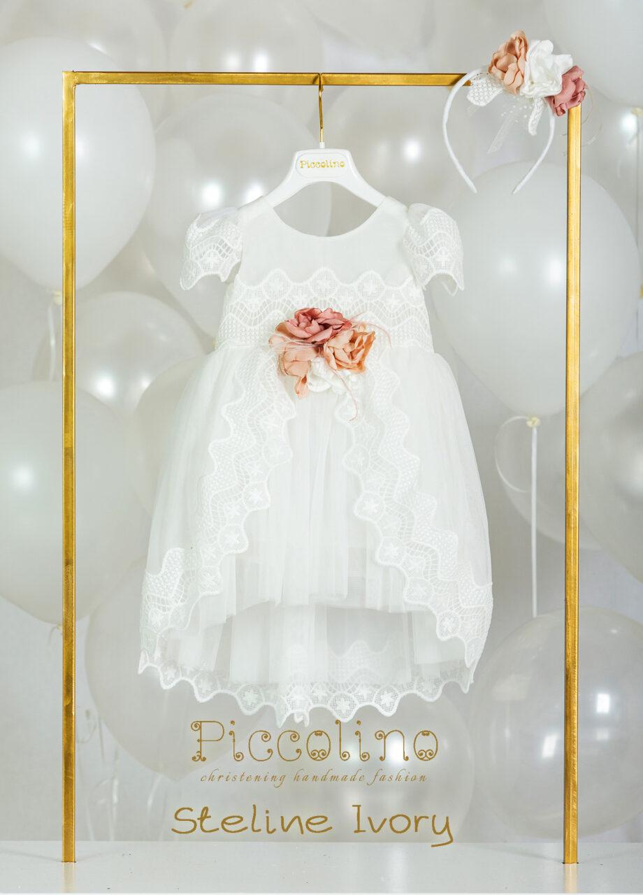 Βαπτιστικό φόρεμα Piccolino Steline Ivory